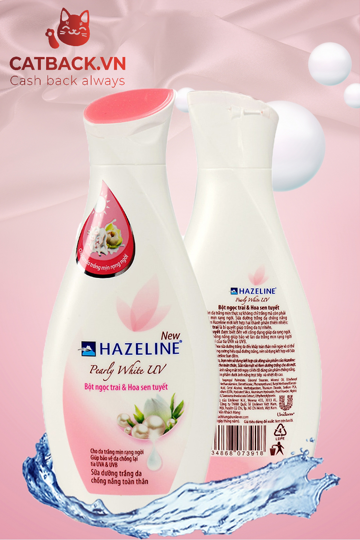 Sữa Dưỡng Thể Hazeline bột ngọc trai và hoa sen tuyết