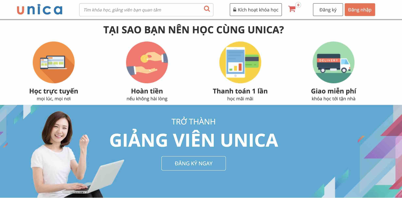 Trang chủ khóa học Unica