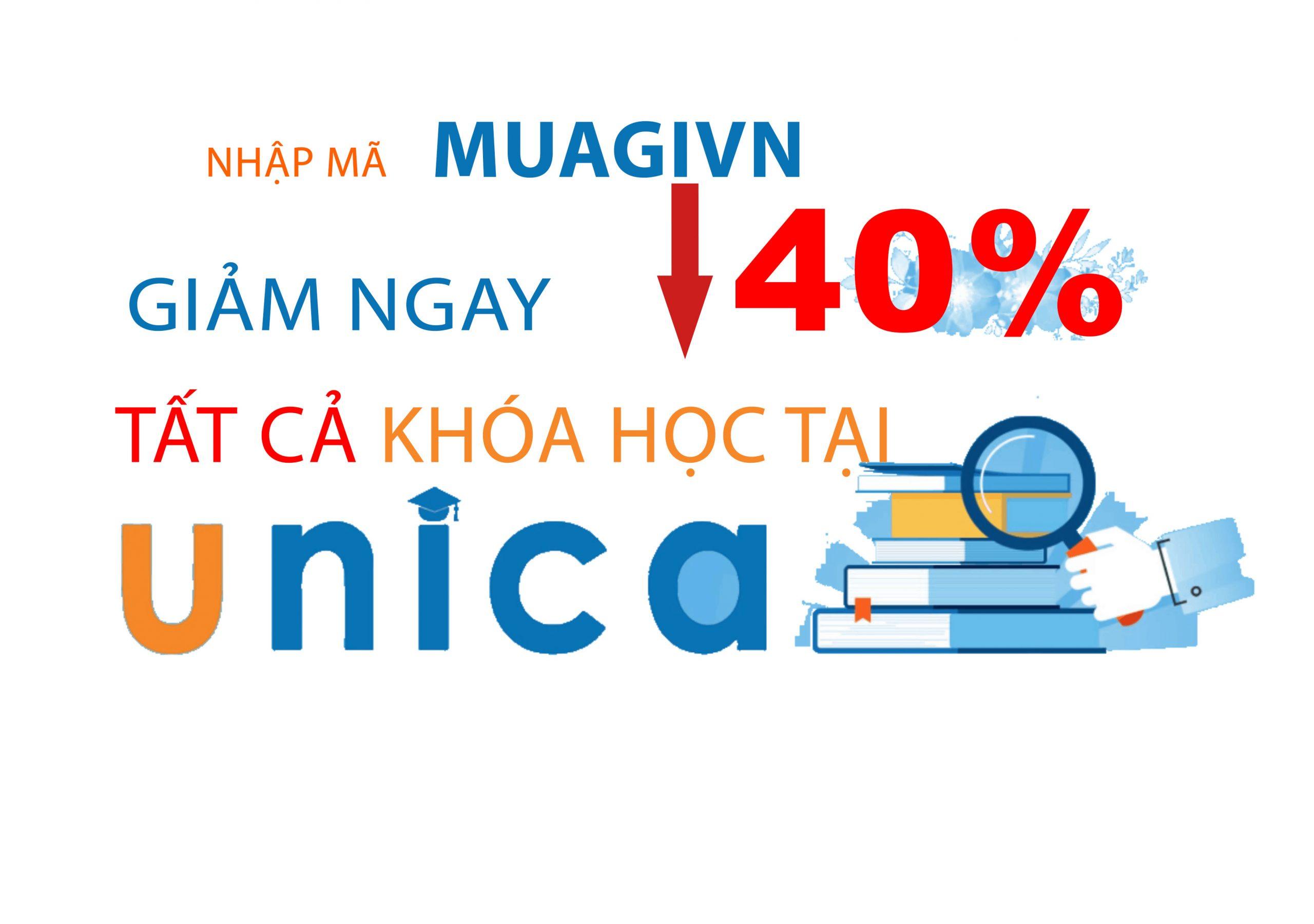 Chương trình khuyến mãi của khi học online Unica