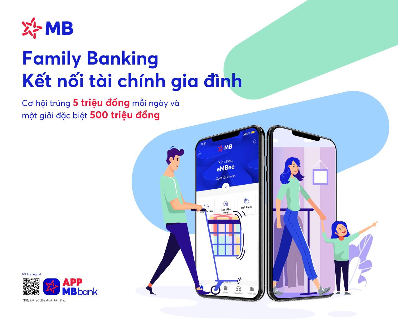 """Gói """"Gia đình tôi yêu"""" của App MBBank"""