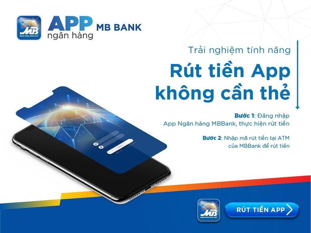 Rút tiền ATM không cần thẻ bằng App MBBank