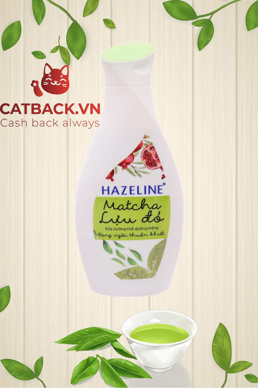 Sữa dưỡng thể Hazeline matcha lựu đỏ