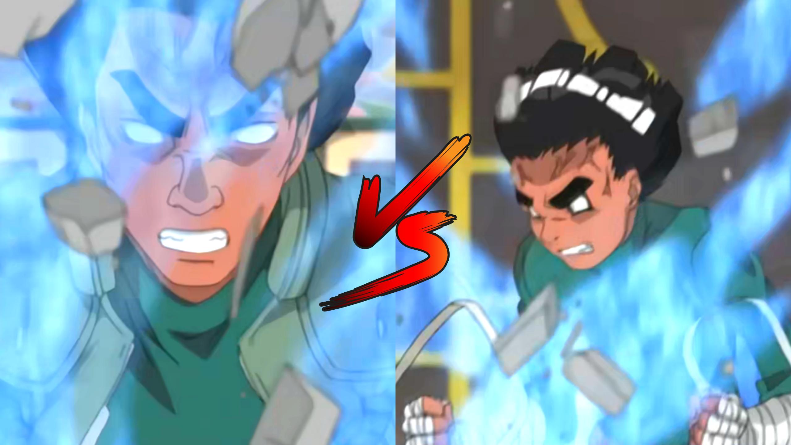 naruto - guy sensei vs rock lee - ayedot