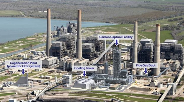 PetraNova coal power plant with CCS in Texas