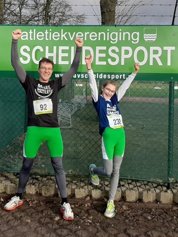 Ben en dochter | Virtual run hardloopaanbiedingen.nl