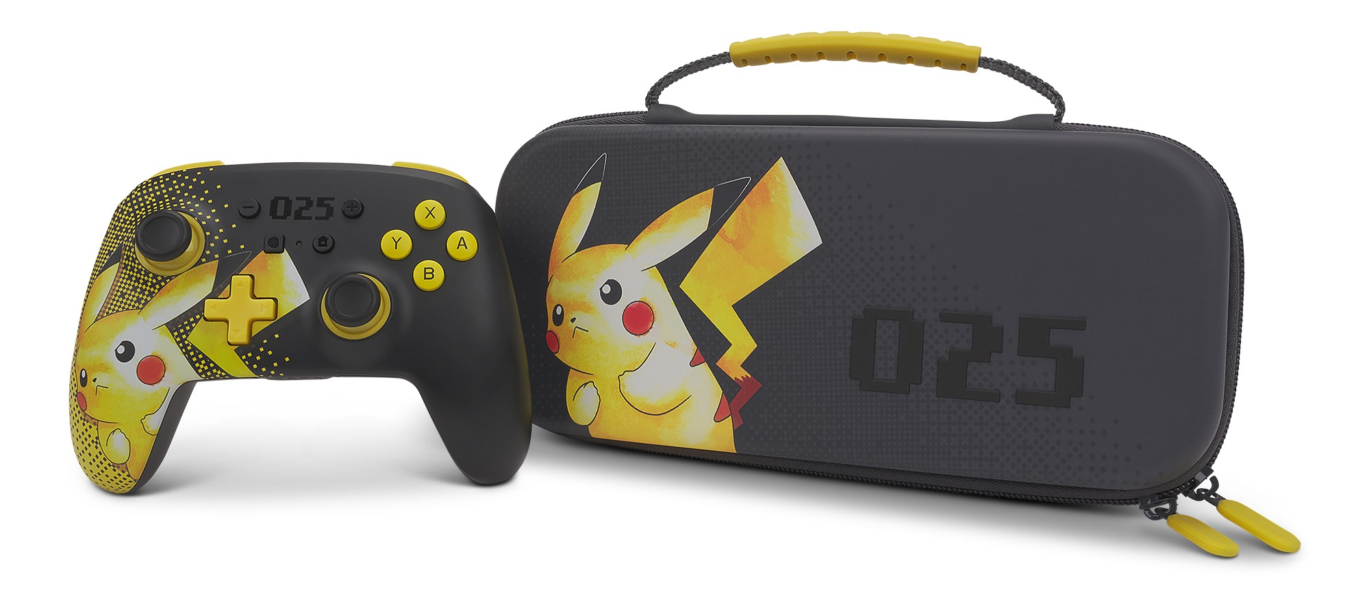 Enhanced Wireless Controller and Protection Case for the Nintendo Switch - Pikachu 025 by PowerA