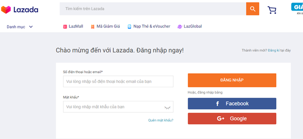 Lấy mã giảm giá trên Lazada.vn