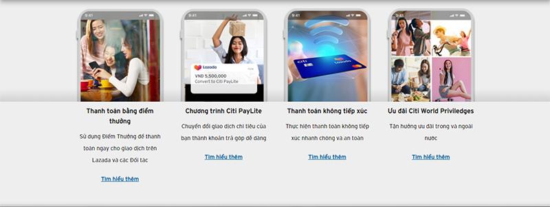Chức năng của thẻ tín dụng Lazada Citi Platinum?