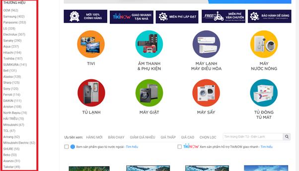 Quảng bá thương hiệu và sản phẩm trên Tiki