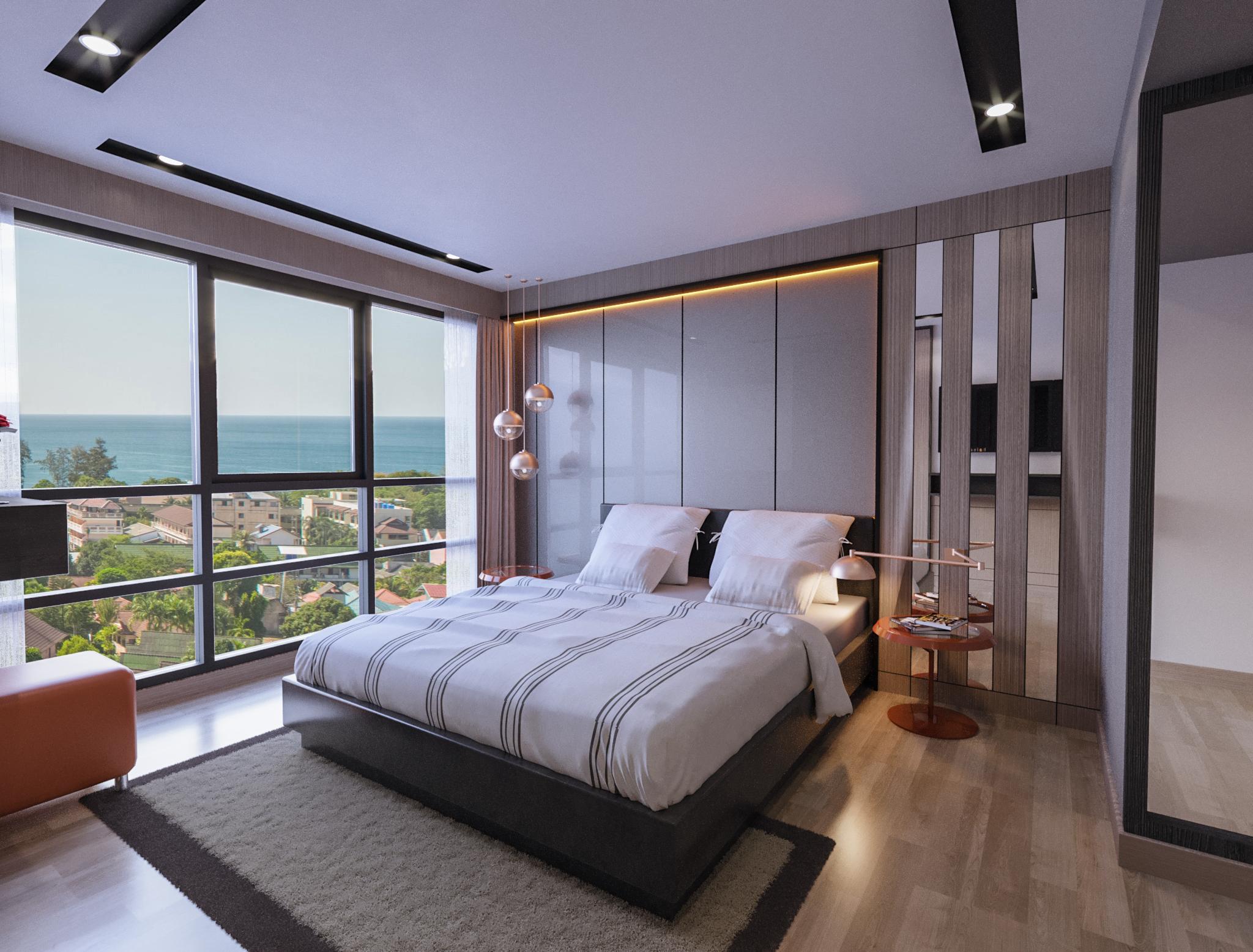 Seaview bedroom in VIPKaron by Phuket9