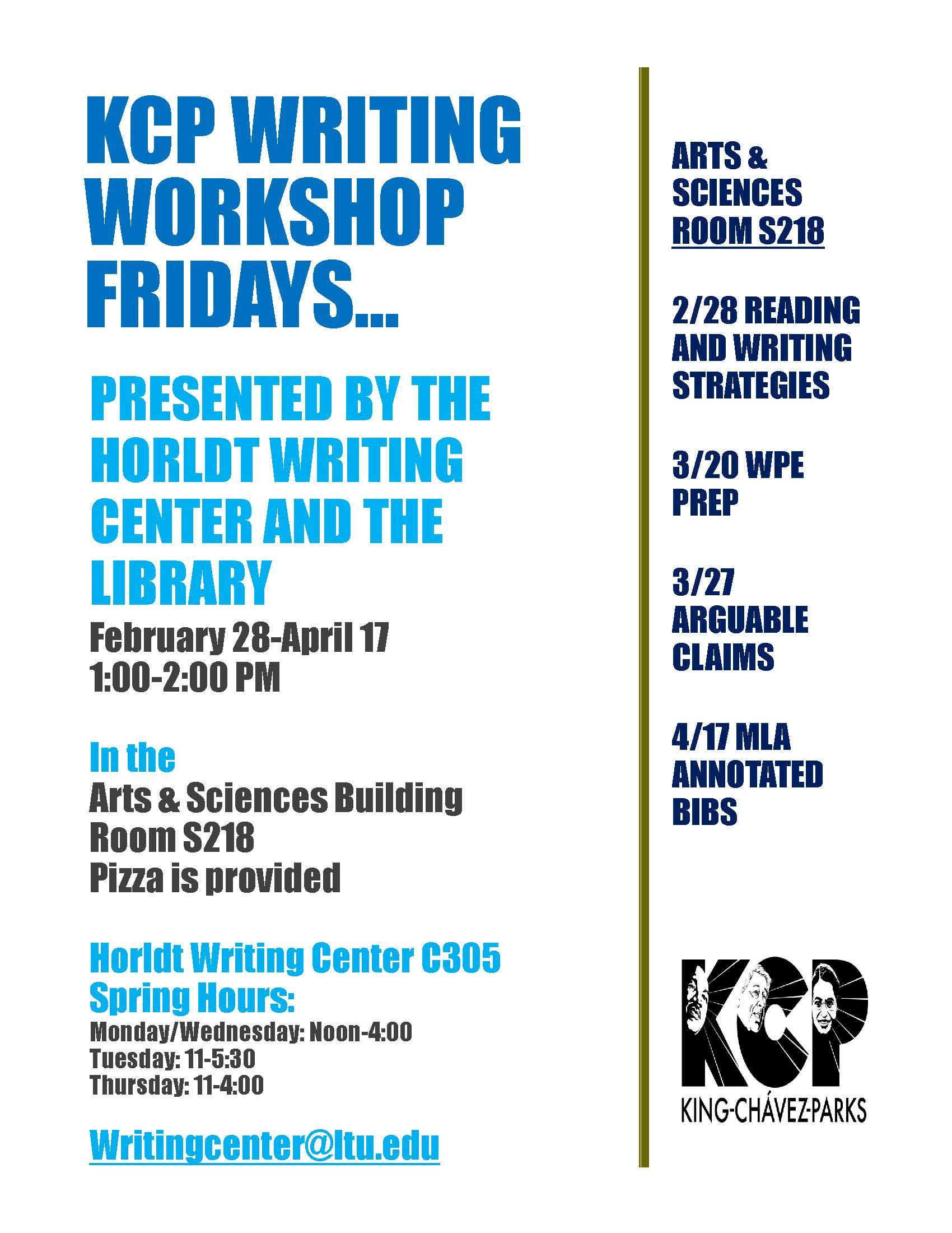 KCP Writing Workshop Fridays