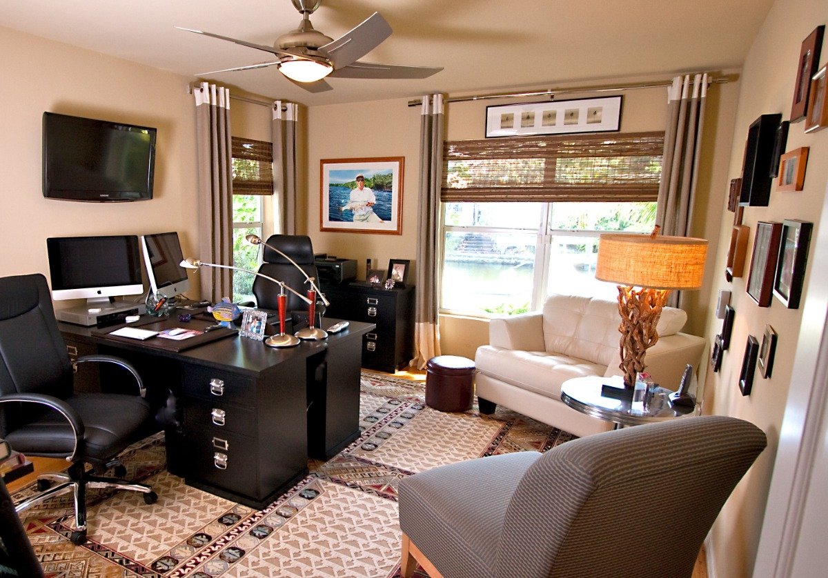cool home office for two