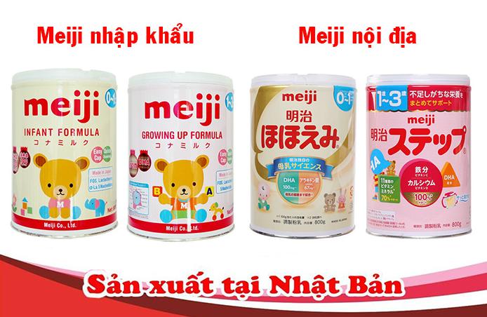 Sữa Meiji nhập khẩu và nội địa