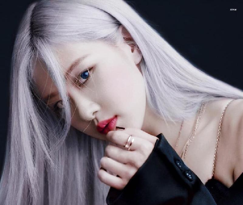 Rose và mái tóc xanh xám tro