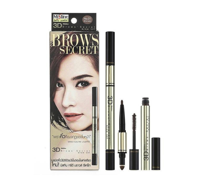 Chì kẻ mày 3D BROW SECRET MISTINE 3 IN 1
