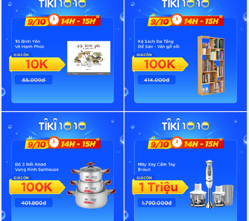 Deal đồng giá Tiki
