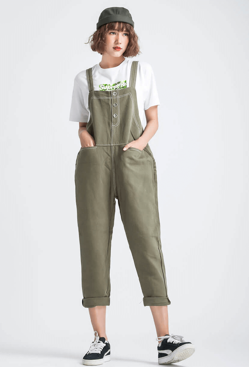 quần yếm và áo thun