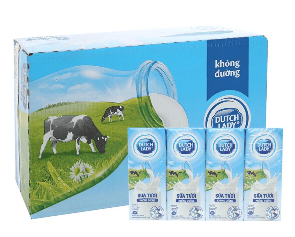 Sữa tiệt trùng không đường Cô gái Hà Lan (Dutch Lady)