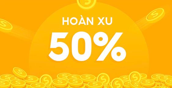 Chương trình hoàn xu 50% của shopee 10.10
