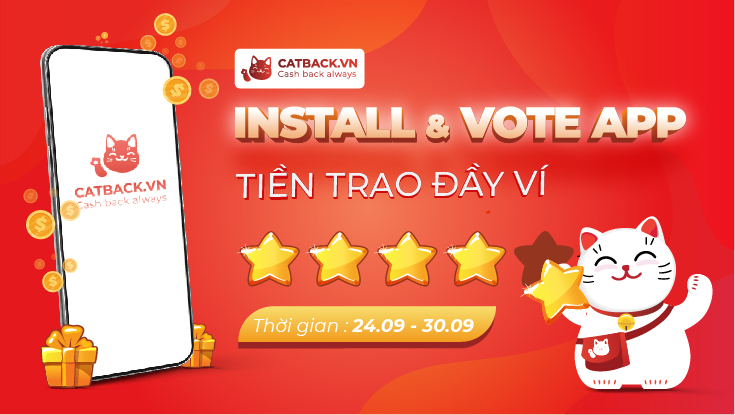 INSTALL & VOTE 5* ỨNG DỤNG