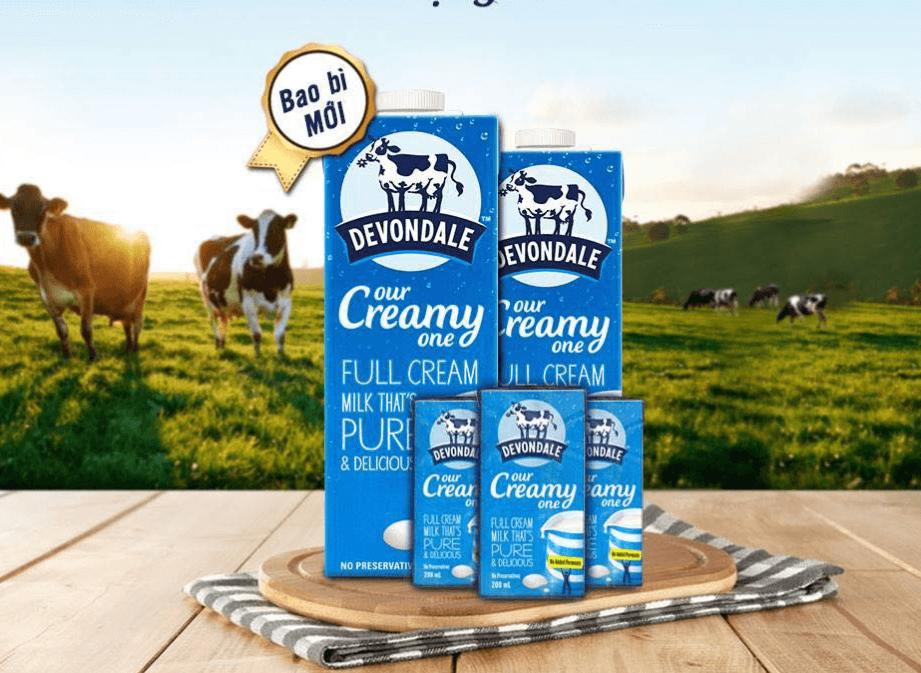 Sữa tươi không đường tách béo cho bà bầu Devondale Smart