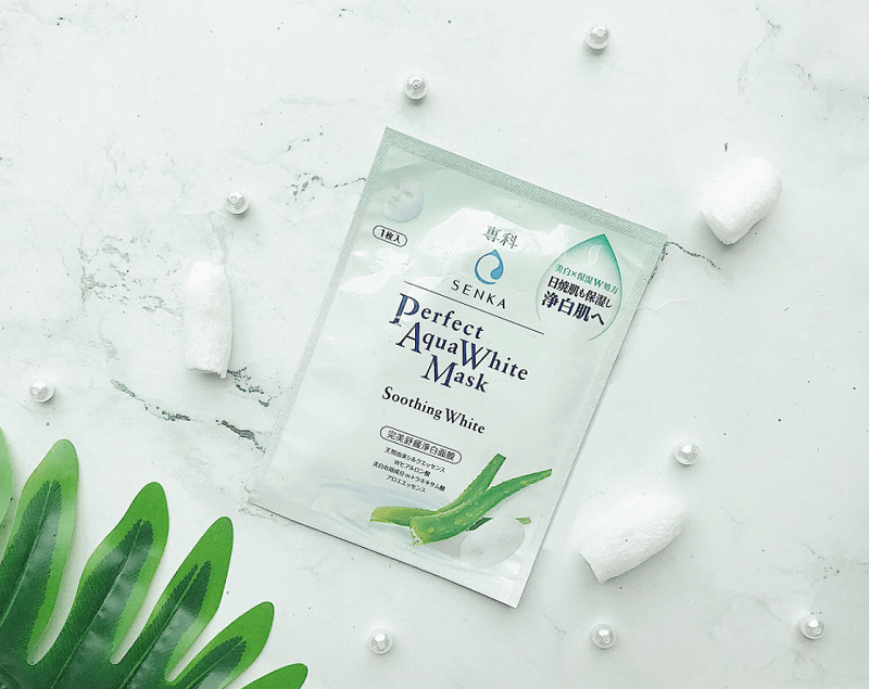 Mặt nạ Senka Perfect Aqua Soothing White Mask
