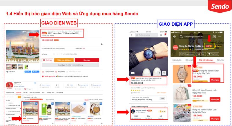 quyền lợi SHOP+ trên Sendo