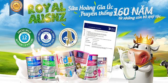 Thông tin thương hiệu sữa Royal Ausnz